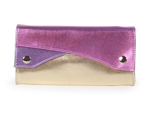 Vegan Shoes & Bags: Multi-colored metallic vegan purse in Pink :  purse vegan metallic