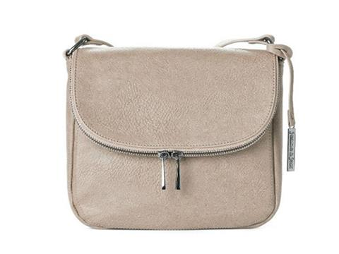 e345e2dbc7ef Vegan Shoes   Bags  Zipper Flap Crossbody Bag by Jeane   Jax in Taupe