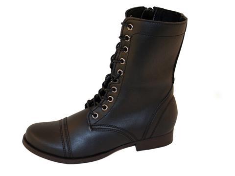 Vegan Shoes & Bags: Women's Combat Boot-Sara by Novacas