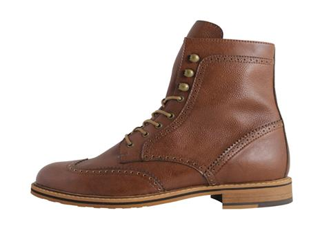 39a8934db8c Vegan Shoes   Bags  Brogue Men s Boots by FAIR in Chestnut