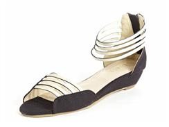 Tulip Low Wedge Sandal by Neuaura
