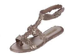 Campana Barr Sandal in Rose Gold by Melissa